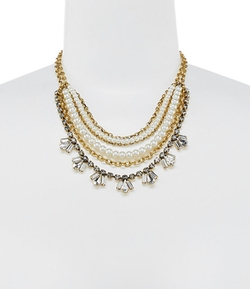 Belle Badgley Mischka - Multi Layer Bib Necklace