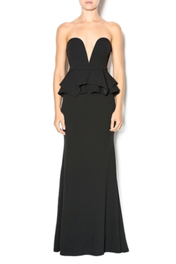 Xtaren - Black Strapless Gown