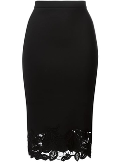 Ermanno Scervino - Lace Detail Pencil Skirt