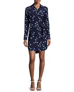 Kate Spade New York  - Long-Sleeve Bird Print Shirtdress