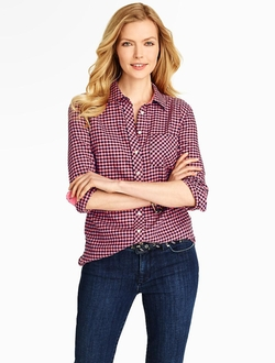 Talbots - Gingham Checks Cotton Shirt