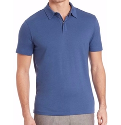 Saks Fifth Avenue Collection  - Solid Zip Polo Shirt