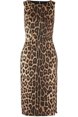 Altuzarra - Shadow Leopard-Print Stretch-Cotton Dress