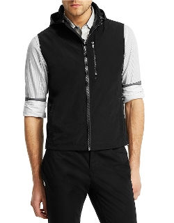 Kenneth Cole New York - Twill Hooded Zip Vest