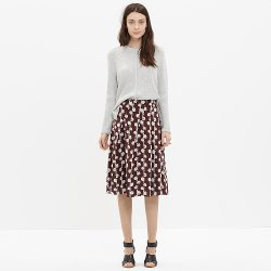 Madewell - Silk Asymmetrical Pleated Skirt