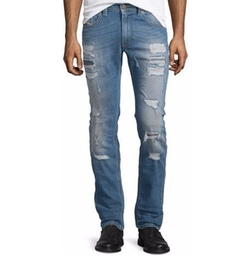 Diesel - Thavar Destroyed Slim Jeans