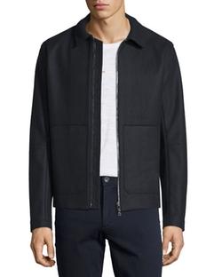 Vince  - Raw-Edge Zip-Up Utility Jacket
