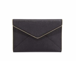 Rebecca Minkoff - Leo Saffiano Zip-Trim Clutch Bag