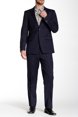 Bruno Piatelli - Sharkskin Two Button Peak Lapel Wool Suit