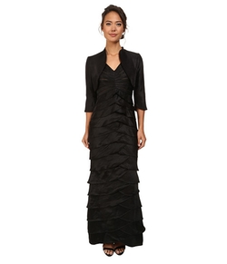Adrianna Papell - Shutter Pleat Dress W/ Jacket