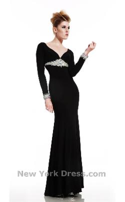 Johnathan Kayne - Entrancing evening gown with crystal embellishments