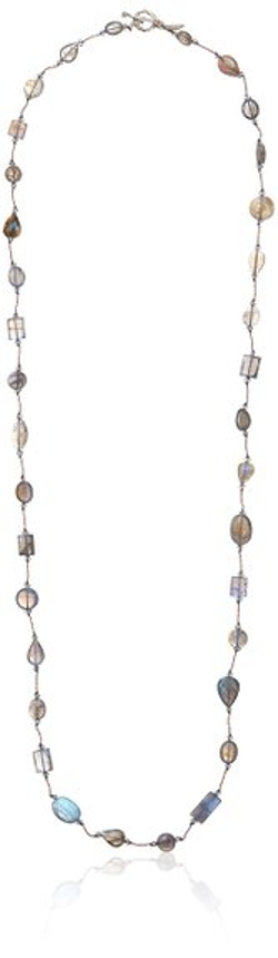 Margo Morrison New York - Cushion-Cut Labradorite Toggle Necklace