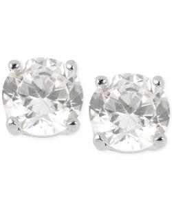 Kenneth Cole New York  - Silver-Tone Small Crystal Stud Earrings