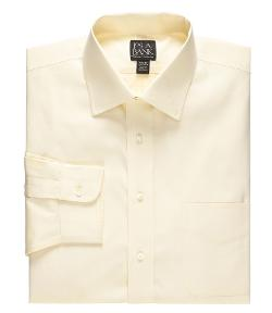 Jos A. Bank - Slim Fit Pinpoint Solid Long-Sleeve Spread Collar Dress Shirt