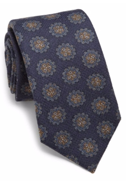 Isaia  - Medallion Wool & Silk Tie