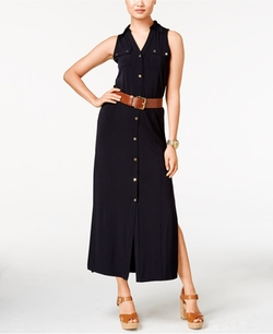 Michael Kors  - Belted Maxi Shirtdress