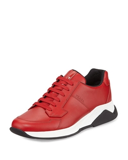 Prada - Leather Running Sneaker