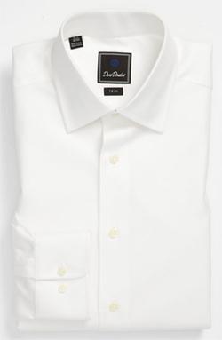 David Donahue  - Trim Fit Solid Dress Shirt