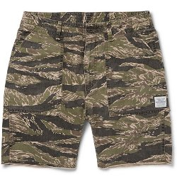 Neighborhood  -  Tigerstripe Camouflage Cotton-Canvas Cargo Shorts