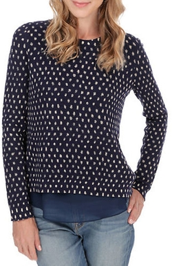 Lucky Brand - Polka Dot Sweater