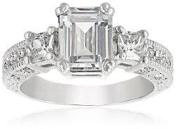 Fashion Plaza - Austrian Crystal Engagement Wedding Spark Ring