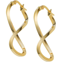 Ice - Yellow Gold Infinity Hoop Earrings