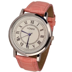 Sandistore  - Leather Rome Quartz Analog Wrist Watch