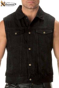 Xelement - Denim Motorcycle Vest