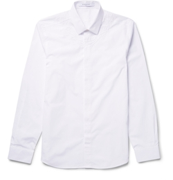 Givenchy - Cuban-Fit Embroidered Cotton-Poplin Shirt