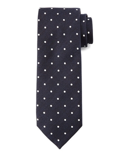 Tom Ford  - Herringbone Dot-Print Silk Tie