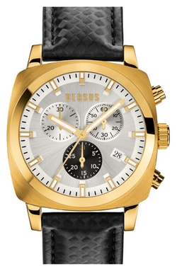 Versus By Versace  - Riverdale Chronograph Leather Strap Watch
