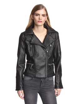 Vince Camuto - Faux Leather Moto Jacket