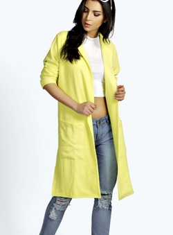 Boohoo  - Gloria Side Split Duster Coat