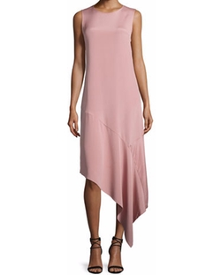 Joseph - Lark Asymmetric Silk Crepe Dress