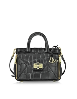 Diane Von Furstenberg - Embossed Croco Leather Tote Bag