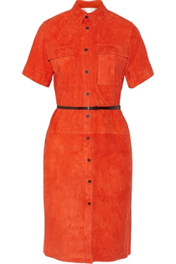 Victoria, Victoria Beckham - Suede Shirt Dress