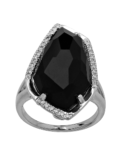 Lord & Taylor - Sterling Silver Black Onyx Ring