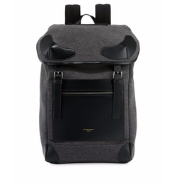 Givenchy  - Rider Flannel & Leather Backpack