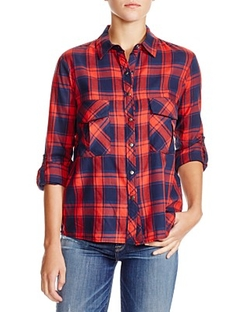 AQUA  - Vas Plaid Cotton Shirt