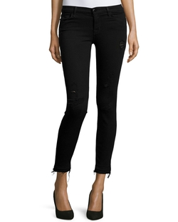 J Brand Jeans - Mid-Rise Cropped Jeans