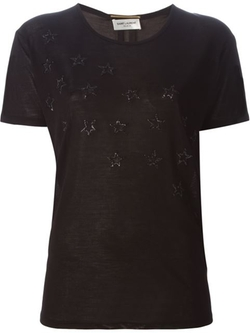 Saint Laurent - Sequinned Star T-Shirt