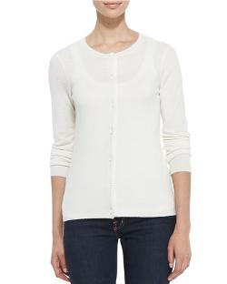 Neiman Marcus   - Button-Down Cashmere Cardigan