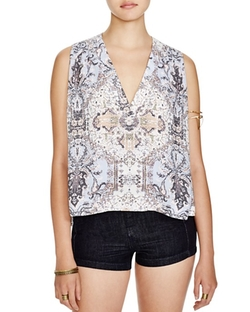 Free People  - Darcy Super V Printed Top