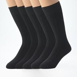 Croft & Barrow - Ribbed Dress Socks