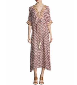 Figue - Calista Medallion Print Silk Dress