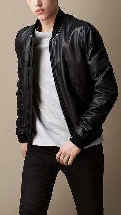 Topman brown leather bomber jacket – Modern fashion jacket photo blog
