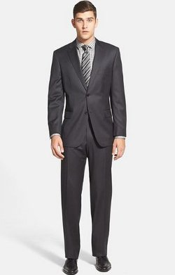 Boss Hugo Boss  - Classic Fit Charcoal Wool Suit
