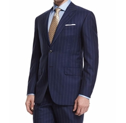 Oxxford  - Rope-Stripe Two-Piece Wool Suit