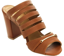 Wild Diva  - Clarity-09 Chunky Slide Sandals