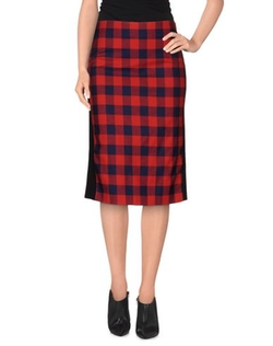 American Retro - Knee Length Check Skirt